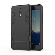 Υβριδική Θήκη Σιλικόνης TPU σε Συνδυαμό με Πλαστικό και με Βάση Στήριξης για Nokia 2.1 - Μαύρο