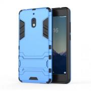 Υβριδική Θήκη Σιλικόνης TPU σε Συνδυαμό με Πλαστικό και με Βάση Στήριξης για Nokia 2.1 - Μπλε
