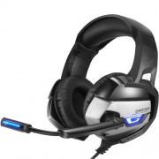 ONIKUMA K5 3.5mm Ενσύρματα Ακουστικά με Μικρόφωνο με Φως LED για Παιχνίδια σε PS4 / XBOX One / Laptop / PC - Μαύρο