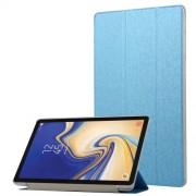 Δερμάτινη Θήκη Βιβλίο Tri-Fold με Βάση Στήριξης με Διάφανη Πλάτη για Samsung Galaxy Tab S4 10.5 T830/T835 - Γαλάζιο