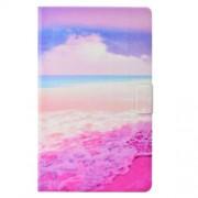 Δερμάτινη Θήκη Βιβλίο με Βάση Στήριξης για Samsung Galaxy Tab A 10.1 (2016) T580 - Ροζ Θάλασσα