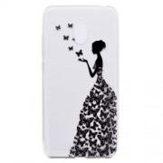 For Meizu M6 Soft TPU Ultra Patterned Ultra-thin Phone Accesssory Case - Butterfly Girl