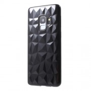 3D Diamond Texture TPU Cover for Samsung Galaxy S9 SM-G960 - Black