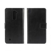 Δερμάτινη Θήκη Πορτοφόλι με Βάση Στήριξης για LG K10 - Μαύρο