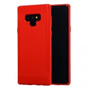 Anti-slip Carbon Fiber Texture Matte TPU Protective Cover Shell for Samsung Galaxy Note9 N960 - Red