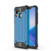 Armor Guard Plastic + TPU Hybrid Protector Case Accessory for Huawei Honor Play - Baby Blue