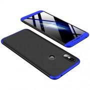GKK 360 μοιρών Σκληρή Θήκη Ματ με Βελούδινη Υφή Πρόσοψης και Πλάτης για Xiaomi Redmi S2 / Redmi Y2 - Μαύρο / Μπλε