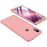 GKK 360 μοιρών Σκληρή Θήκη Ματ με Βελούδινη Υφή Πρόσοψης και Πλάτης για Xiaomi Redmi S2 / Redmi Y2 - Ροζέ Χρυσαφί