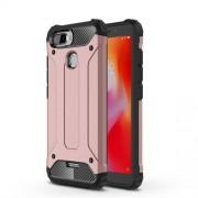 Tough Armor Υβριδική Θήκη Σιλικόνης TPU σε Συνδυαμό με Πλαστικό για Xiaomi Redmi 6 (Dual Camera: 12MP+5MP) - Ροζέ Χρυσαφί