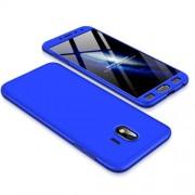 GKK 360 μοιρών Σκληρή Θήκη Ματ με Βελούδινη Υφή Πρόσοψης και Πλάτης για Samsung Galaxy J4 (2018) - Μπλε