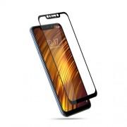 MOCOLO Silk Print Arc Edge Full Coverage Tempered Glass Screen Protector for Xiaomi Pocophone F1 / Poco F1 (India) - Black