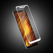 MOCOLO Silk Print Arc Edge Full Coverage Tempered Glass Screen Protector Film for Xiaomi Pocophone F1 / Poco F1 (India) - White