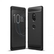 Θήκη Σιλικόνης TPU Carbon Fiber Brushed για Sony Xperia XZ3 - Μαύρο