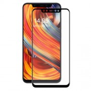 HAT PRINCE 0.2mm 3D Curved Carbon Fiber Tempered Glass Full Size Screen Protector for Xiaomi Mi 8 - Black