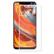 HAT PRINCE 0.2mm 3D Curved Carbon Fiber Tempered Glass Full Coverage Screen Protector for Xiaomi Mi 8 - White