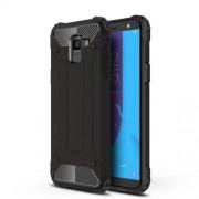 Armor Guard Plastic + TPU Hybrid Case for Samsung Galaxy J6 (2018) - Black