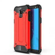 Armor Guard Plastic + TPU Combo Case for Samsung Galaxy J6 (2018) - Red