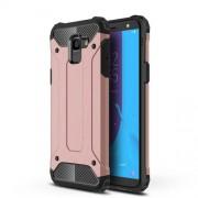 Tough Armor Υβριδική Θήκη Σιλικόνης TPU σε Συνδυαμό με Πλαστικό για Samsung Galaxy J6 (2018) - Ροζέ Χρυσαφί