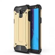 Armor Guard Plastic + TPU Hybrid Case Shell Cover for Samsung Galaxy J6 (2018) - Gold