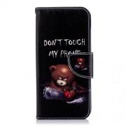 Δερμάτινη Θήκη Πορτοφόλι με Βάση Στήριξης για Samsung Galaxy J6 (2018) - Θυμωμένο Αρκουδάκι
