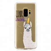 Pattern Printing IMD TPU Shell Cover Case for Samsung Galaxy S9 SM-G960 - Alpaca, I Choose to Be a Unicorn