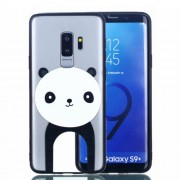 Rubberized Embossed Soft TPU + PC Hybrid Phone Case for Samsung Galaxy S9+ G965 - Panda