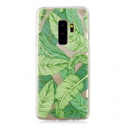 Pattern Printing IMD TPU Mobile Cover for Samsung Galaxy S9 Plus SM-G95 - Green Leaves