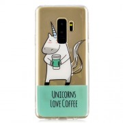 Patterned IMD TPU Back Case for Samsung Galaxy S9 Plus SM-G965 - Unicorns Love Coffee