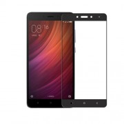 MOCOLO Silk Print Arc Edge Complete Coverage Tempered Glass Screen Protector for Xiaomi Redmi Note 4 - Black