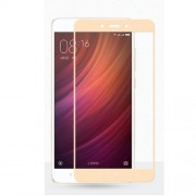 MOCOLO for Xiaomi Redmi Note 4 Silk Print Arc Edge Complete Coverage Tempered Glass Screen Protector - Gold