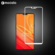 MOCOLO Σκληρυμένο Γυαλί (Tempered Glass) Προστασίας Οθόνης Πλήρης Κάλυψης για OnePlus 6 - Λευκό