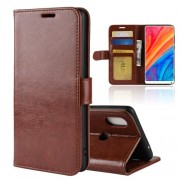 Crazy Horse Leather Stand Cover with Card Slots for Xiaomi Mi Mix 2s - Brown