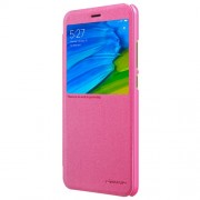 NILLKIN Sparkle Series View Window Leather Smart Shell Case for Xiaomi Redmi Note 5 Pro (Dual Camera) / Redmi Note 5 (China) - Rose