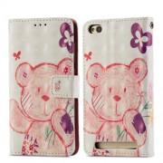 Δερμάτινη Θήκη Πορτοφόλι με Βάση Στήριξης για  Xiaomi Redmi 5A - Ροζ Ακρουδάκι