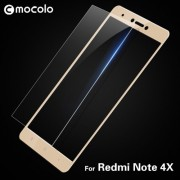 MOCOLO Silk Print Arc Edge Full Size Tempered Glass Screen Protector for Xiaomi Redmi Note 4X - Gold