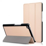 For Lenovo Tab4 8 TB-8504F/N Tri-fold Stand Flip Leather Case - Gold
