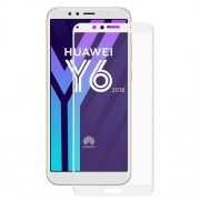 HAT PRINCE Σκληρυμένο Γυαλί (Tempered Glass) Προστασίας Οθόνης Πλήρης Κάλυψης για Huawei Y6 (2018) / Y6 Prime (2018) / 7A - Λευκό