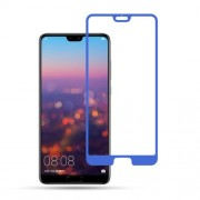 MOCOLO Silk Print Arc Edge Full Coverage Tempered Glass Screen Protector Film for Huawei P20 Pro - Blue