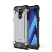 Armor Guard Plastic + TPU Hybrid Back Case for Samsung Galaxy A6 Plus (2018) - Grey