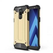 Armor Guard Plastic + TPU Hybrid Mobile Shell for Samsung Galaxy A6 Plus (2018) - Gold