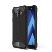 Armor Guard Plastic + TPU Hybrid Phone Case for Samsung Galaxy A6 (2018) - Black