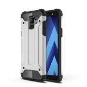 Armor Guard Plastic + TPU Hybrid Phone Casing for Samsung Galaxy A6 (2018) - Silver