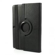Περιστρεφόμενη Δερμάτινη Θήκη Βιβλίο με Βάση Στήριξης για Samsung Galaxy Note 10.1 (2014 Edition) SM-P600 - Μαύρο