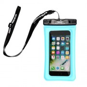 REMAX Universal Neck Strap 20M Waterproof Bag Diving Pouch for iPhone Huawei Samsung Etc - Blue