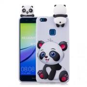 3D Cute Doll Pattern Printing TPU Case for Huawei P10 Lite - Adorable Panda
