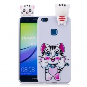 3D Cute Doll Pattern Printing TPU Back Case for Huawei P10 Lite - Tiger