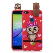 3D Cute Doll Pattern Printing TPU Phone Shell Case for Huawei P10 Lite - Female Owl