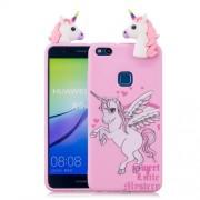 3D Cute Doll Pattern Printing TPU Cover Phone Case for Huawei P10 Lite - Unicorn