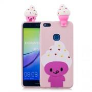 3D Cute Doll Pattern Printing TPU Case Cover Shell for Huawei P10 Lite - Cartoon Animal
