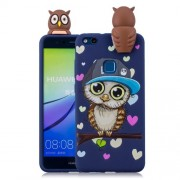 3D Cute Doll Pattern Printing TPU Phone Case Cover for Huawei P10 Lite - Male Owl